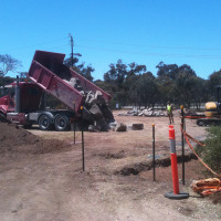 Adelaide City Council Dog Park - Quarry stones arriving