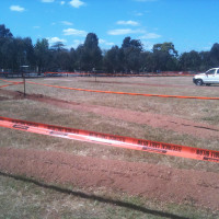 Adelaide City Council Dog Park - Irrigation in progress